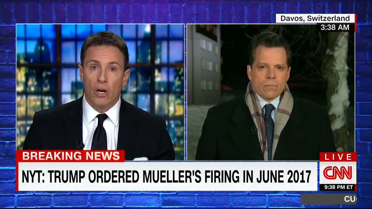 Scaramucci interview goes off the rails as he defends Trump over reports the president tried to fire Mueller