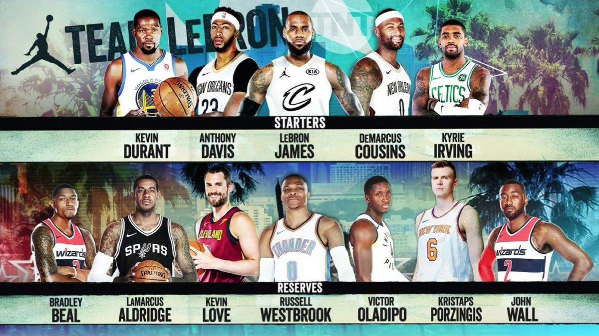 The teams for #NBAAllStar 🔥🔥  #TeamLeBron  #TeamSteph