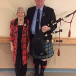 Happy Robbie Burns Day! We're getting ready to pipe in the haggis with Piper Jamie Thomson and Betty, our bonnie Scottish lass! #forbetterretirementliving #RobbieBurnsDay #Haggis #haggisisdelicious