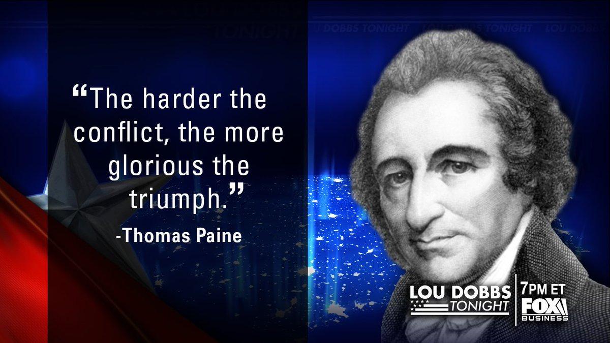 Tonight's #QuoteofTheDay from Thomas Paine. #MAGA #TrumpTrain #Dobbs