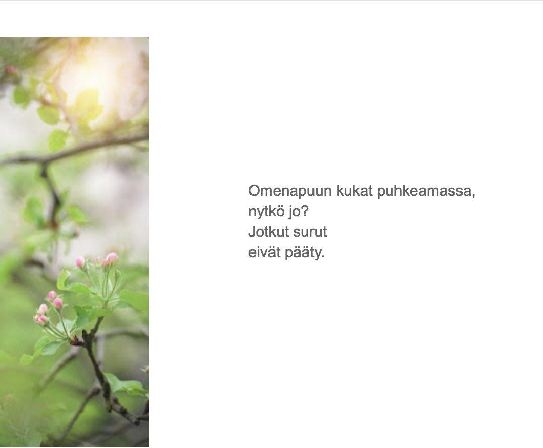 kevät runo
