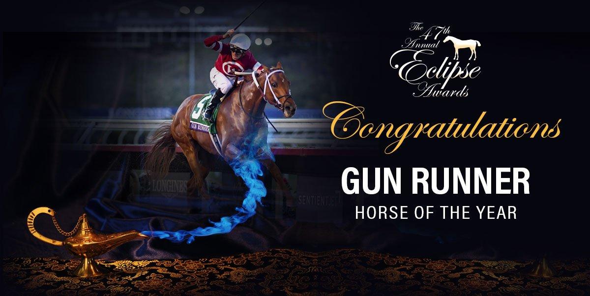 Gun Runner se llevó el titulo de Caballo del Año