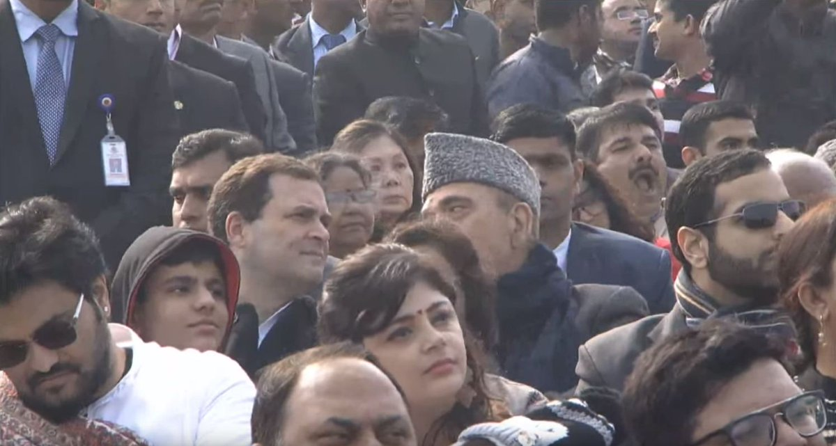 Rahul Gandhi attends Republic Day Parade sitting in middle row