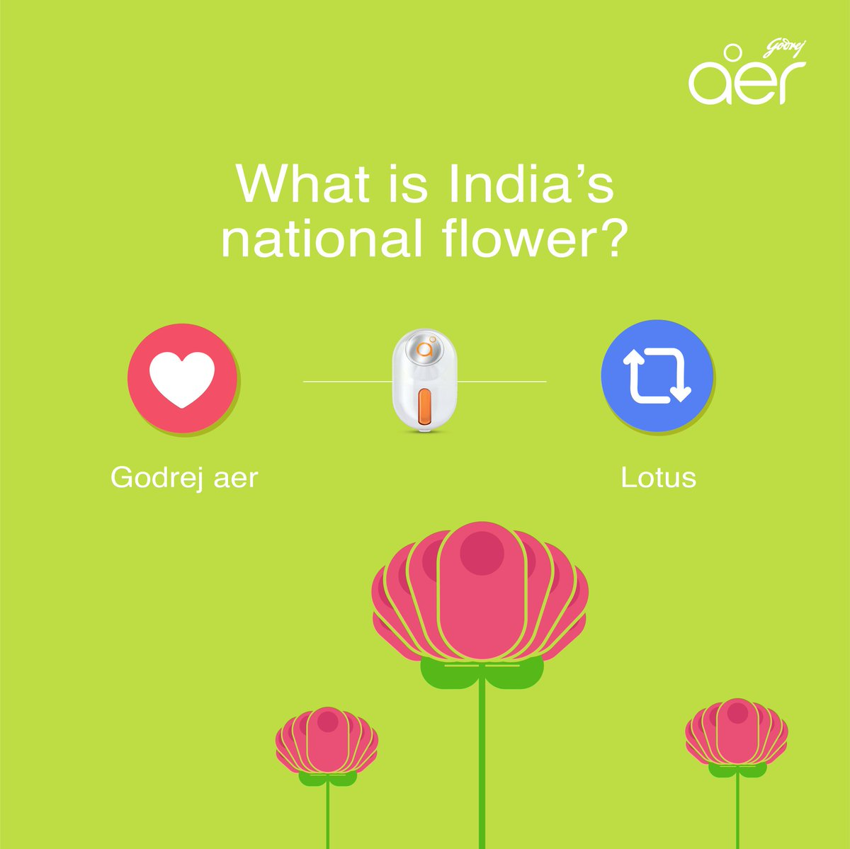 Godrej aer on twitter heres the 2nd question of our republicday after all godrej aer smells quite like a flower contestalert also answer the other 3 questions of the quiz and you could win aer izmirmasajfo