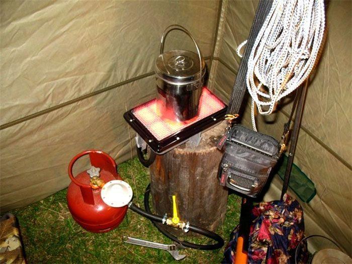 Обогрев палатки для зимней рыбалки