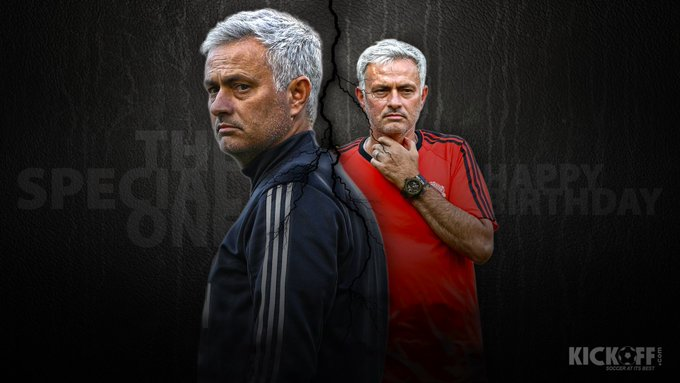 The \Special One\ turns 55 today. Join in wishing Manchester United manager Jose Mourinho a Happy Birthday!