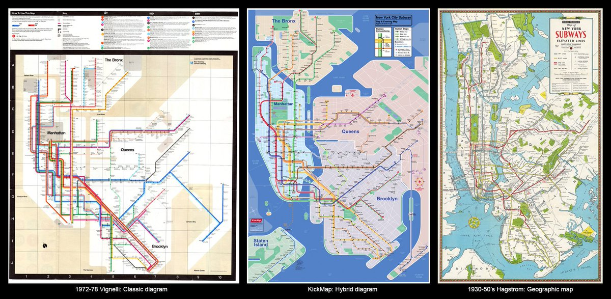 Nyc Subway Map Inspired Design.Kickmap On Twitter Our Two Favorite 20th Century Nyc Transit Maps