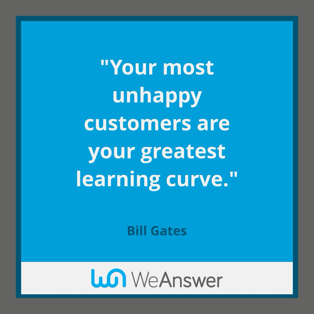Customer Service Quote Weanswer Weansweruk  Twitter