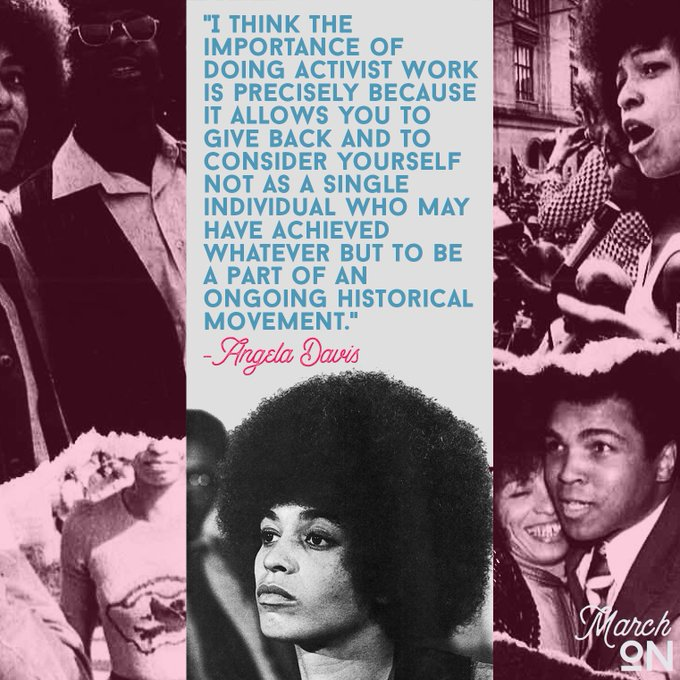 Happy birthday Angela Davis! Your activism continues to blaze trails and inspires all the work that we do!
