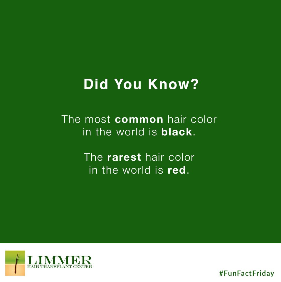 Limmer Htc On Twitter Did You Know The Most Common Hair Color