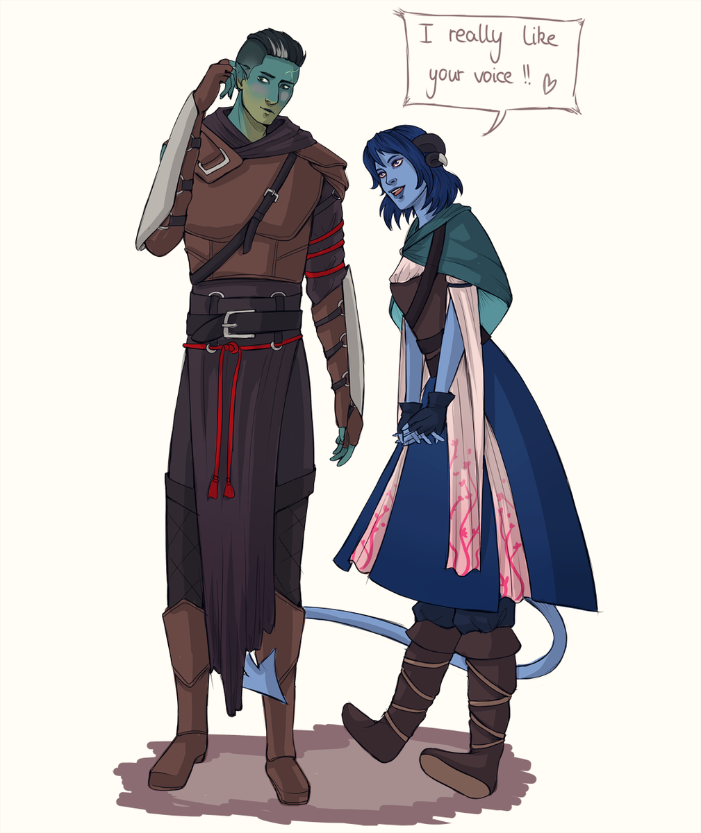 Lea On Twitter Jester And Fjord Interactions Are The Cutest Criticalrole Criticalrolefanart Oh wait that's a human person; jester and fjord interactions