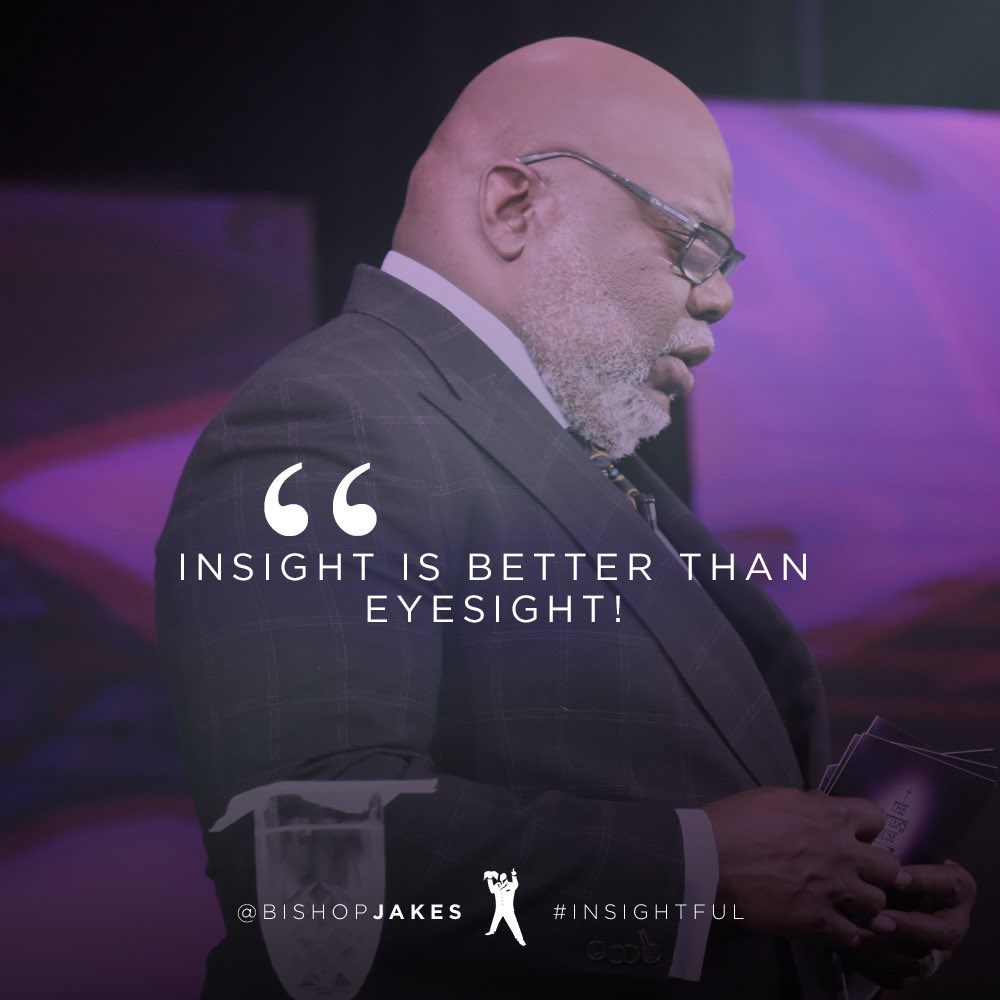 Insight is better than eyes…