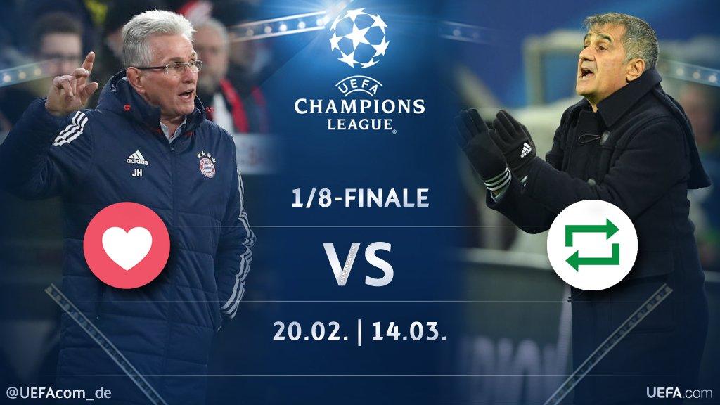 #UCL Countdown 🕘  ❤️ = #JuppHeynckes 🇩🇪 🔁 = #ŞenolGüneş 🇹🇷  #FCBBJK #BJKFCB @FCBayern #Beşiktaş