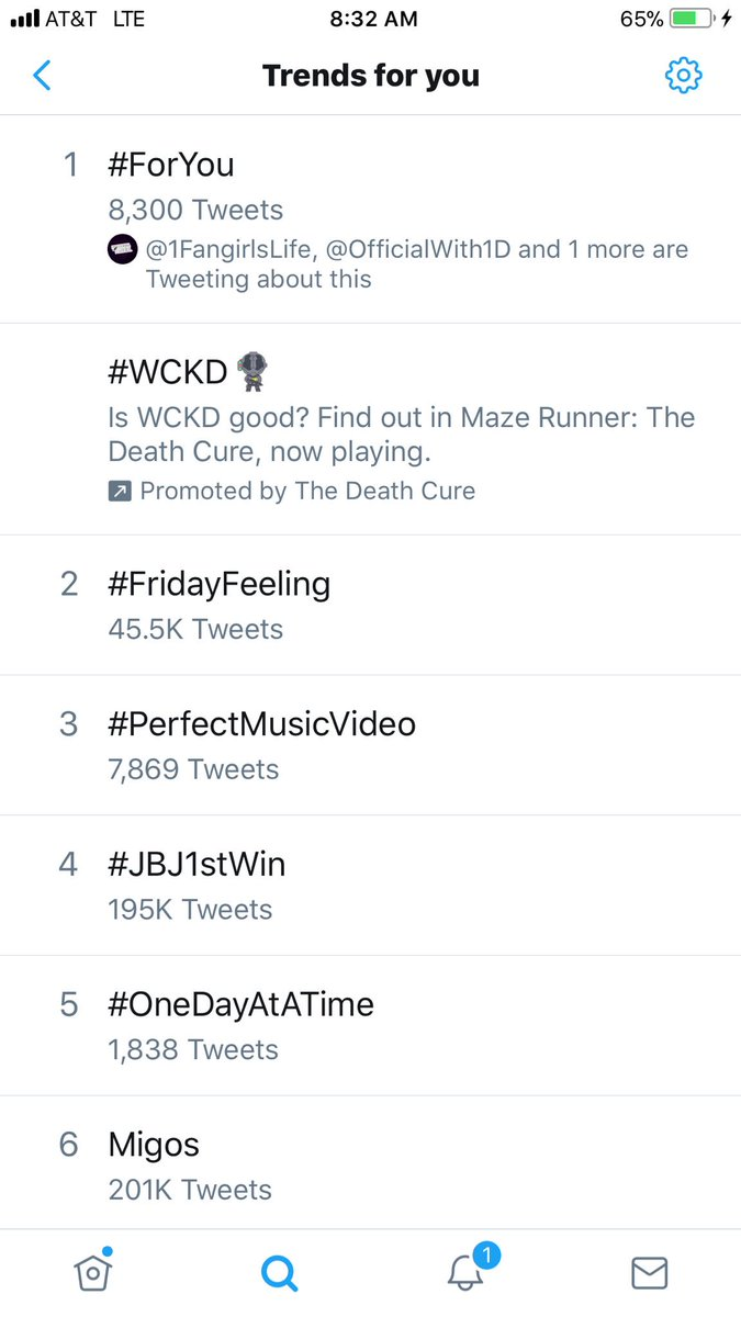#ForYou is trending at number 1 in America!