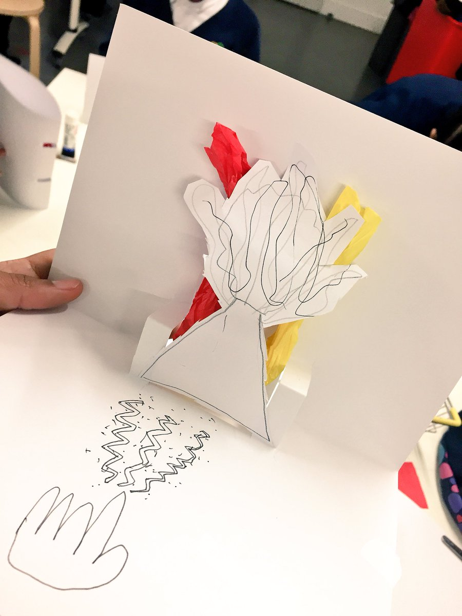 Creating interactive pop ups using tissue paper