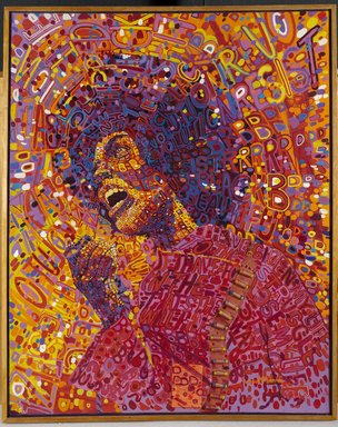 "Happy Birthday to Angela Davis! About the image:""Revolutionary (Angela Davis)\"" by Wadsworth A. Jarrell"