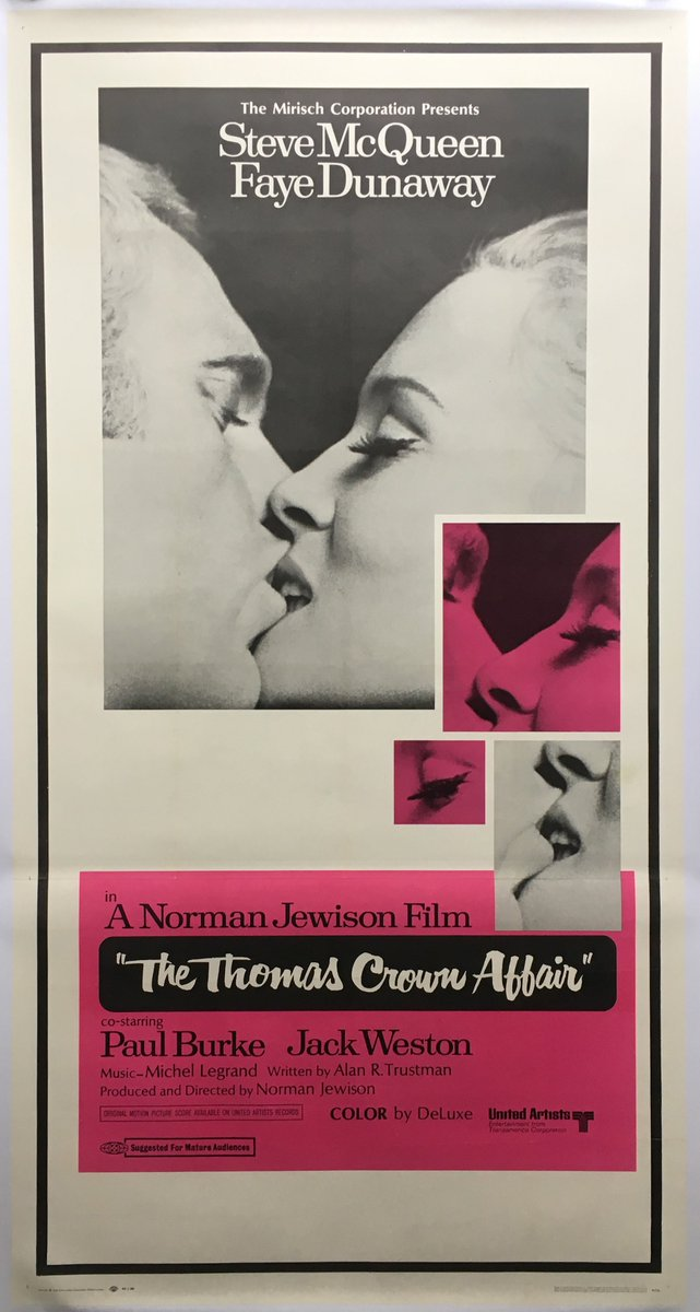 Not long now until @modernshows 1st @HepworthGallery #Wakefield show on the 3rd &amp; 4th Feb. With #valentines fast approaching we will be taking along some fab #romantic #film #posters sure to make your loved ones pucker up! Including this stunning #ThomasCrownAffair US 3 sheet <br>http://pic.twitter.com/bnJDaD0Qdt