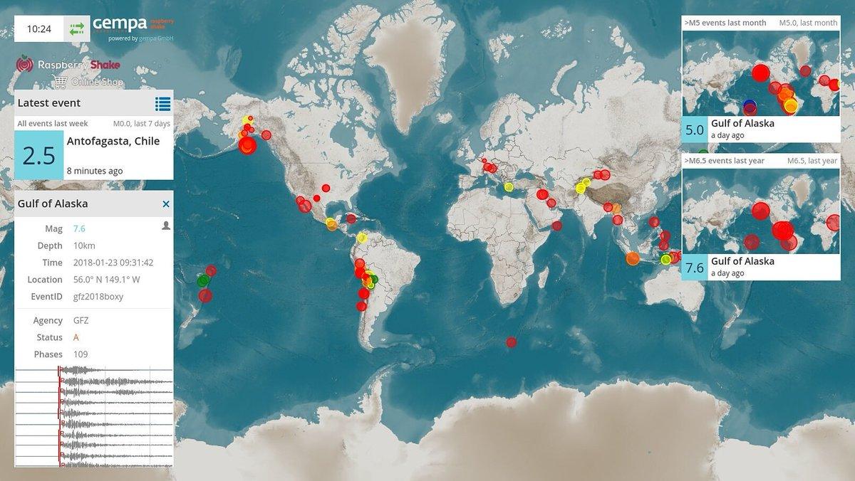 Raspberry Shake On Twitter Rt Raspberryshake Earthquake Map Is