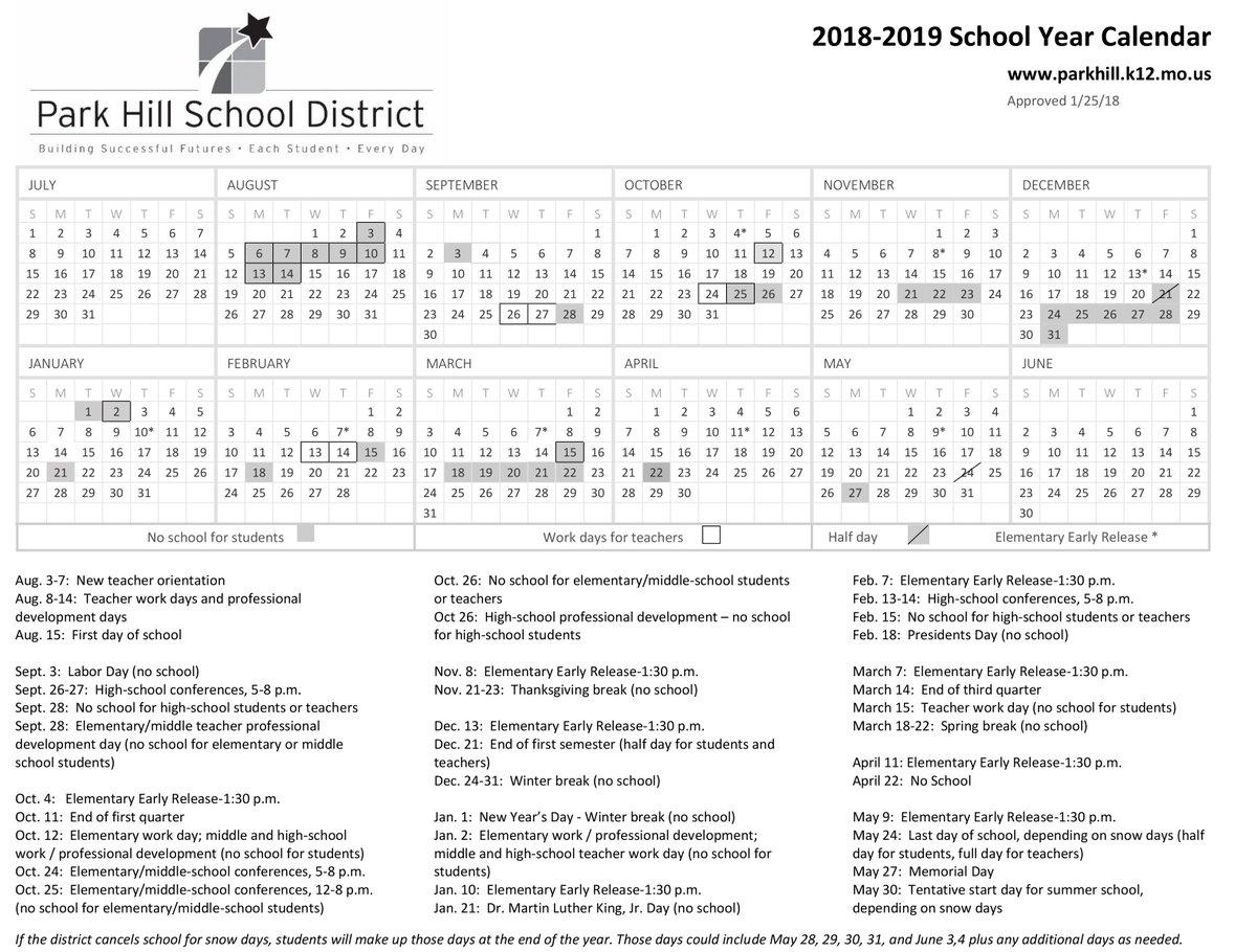 Ecu 2019 Calendar Park Hill Schools on Twitter: