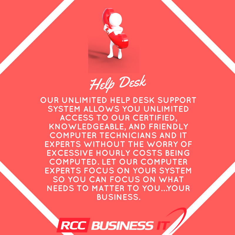 Start Enjoying The Benefits Of Unlimited Help Desk Solutions And Support Today Join Rcc Business It S Growing Family Companies That Enjoy