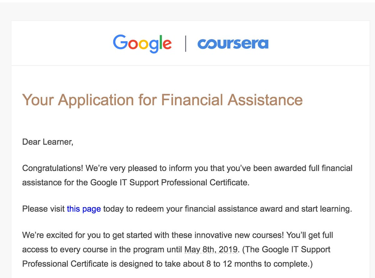 Anil mainali on twitter im so excited and thankful to google it support professional certificate program cant just wait to start and complete this program coursera and take my it career to one step further 1betcityfo Choice Image