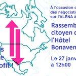 Demain midi, rassemblement sur l'#ALENA #PolQc #PolCAN #NAFTA #aecg #SyndQc #environnement #replaceALENA @CISO_Qc @ccpa @CouncilofCDNs @TradeJusticeNet https://t.co/xOSUMbZxfy
