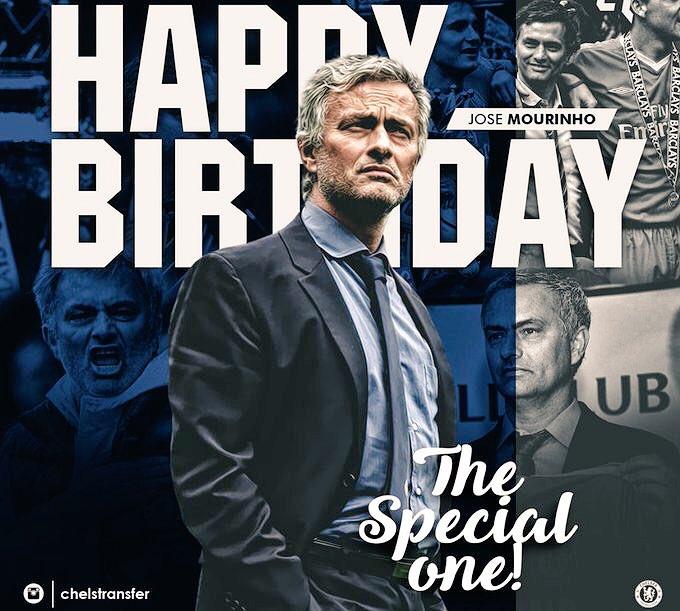 Happy birthday Jose Mourinho   special one    .
