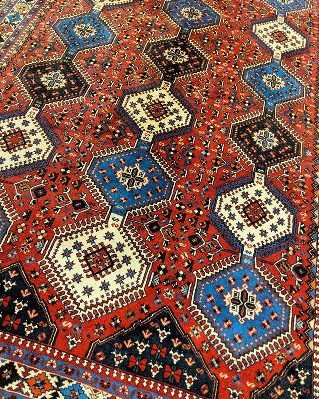 The Pile Used To Weave Yalameh Rugs Are Very Fine In Comparison Other Tribal Because Of Its Cotton Foundation