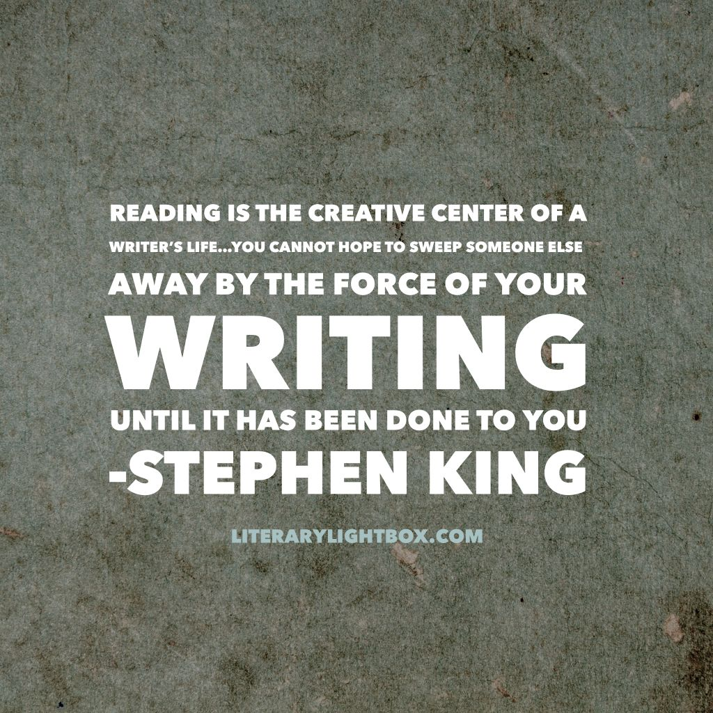 Away By The Force Of Your Writing Until It Has Been Done To You