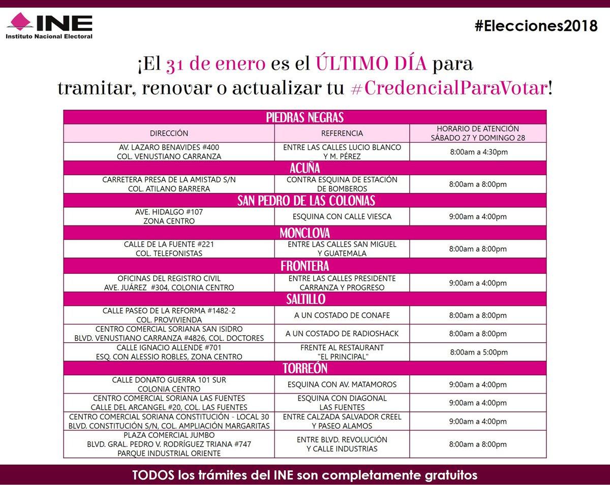 Ine Coahuila On Twitter Cuentaregresiva Sólo Quedan 6