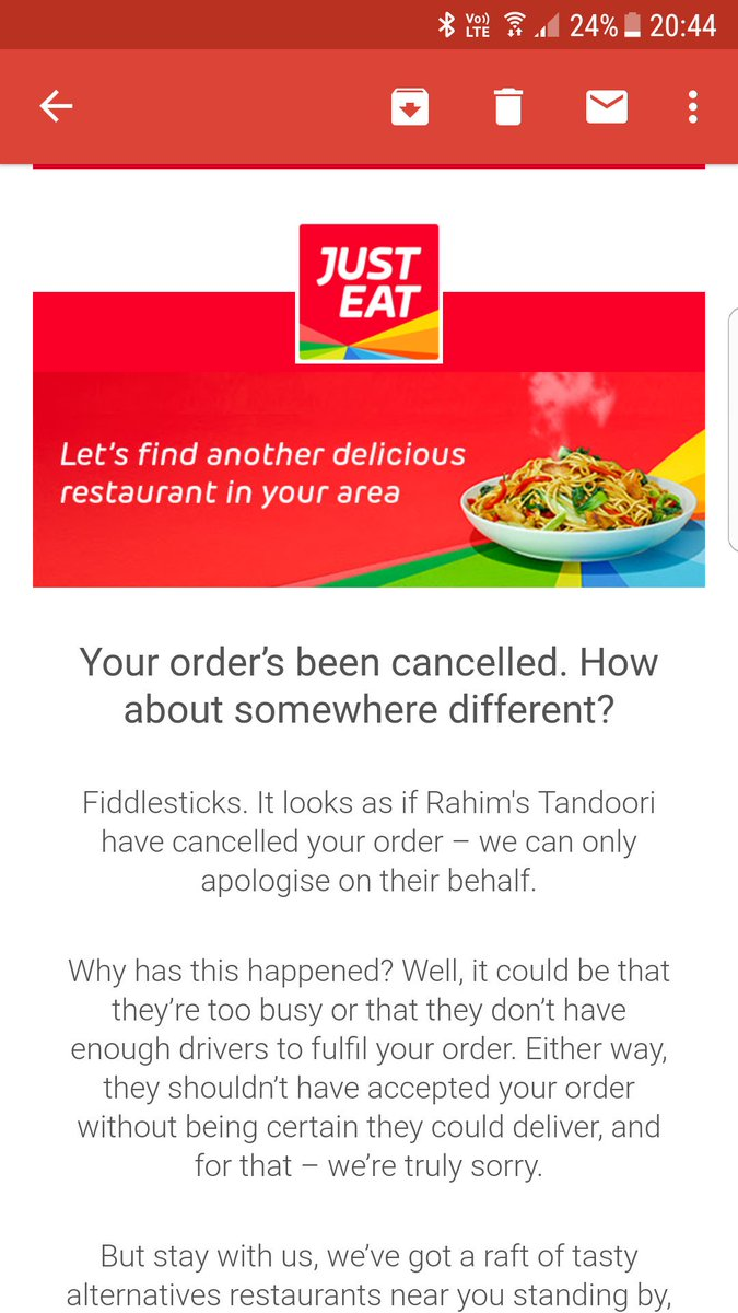 Just Eat Uk On Twitter Really Sorry About This If You