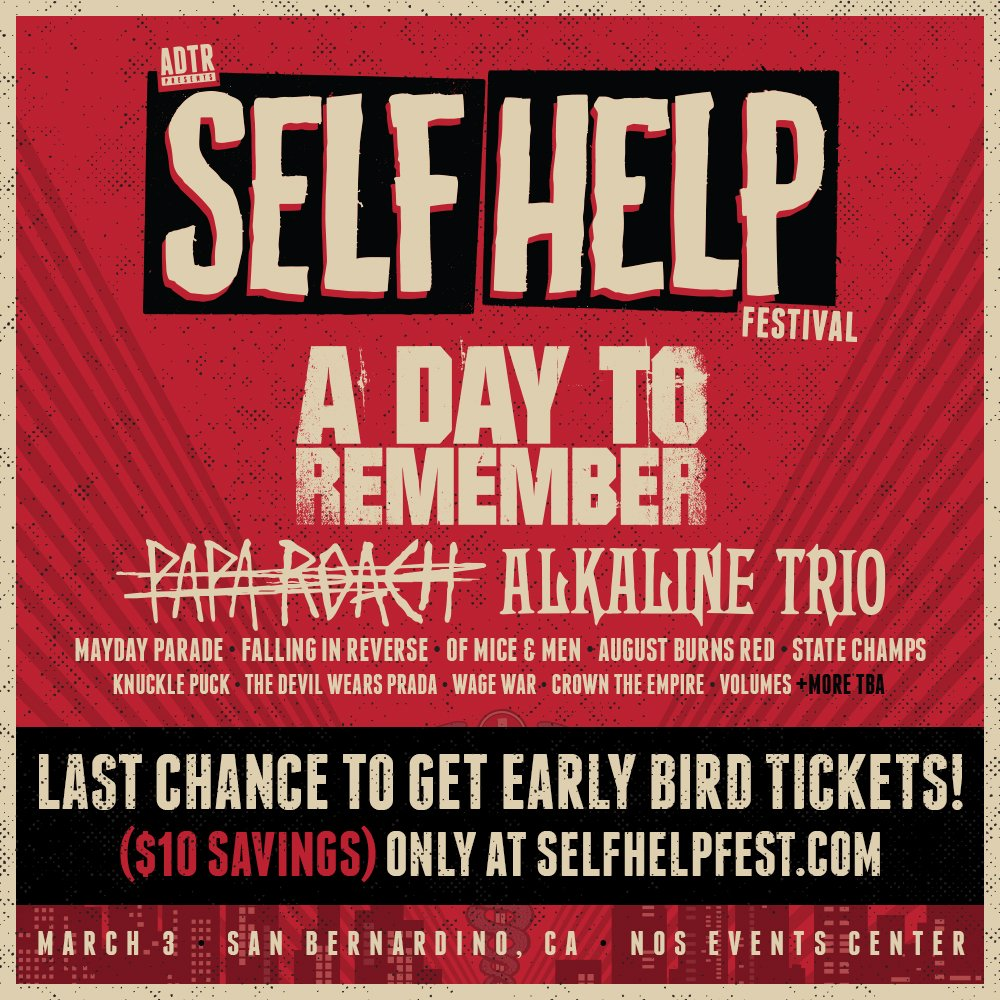 Self Help Festival: A Day To Remember, Underoath   more! | 101one WJRR