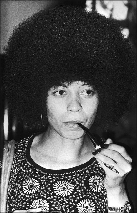 Happy Birthday to Angela Davis! Here she is looking philosophical