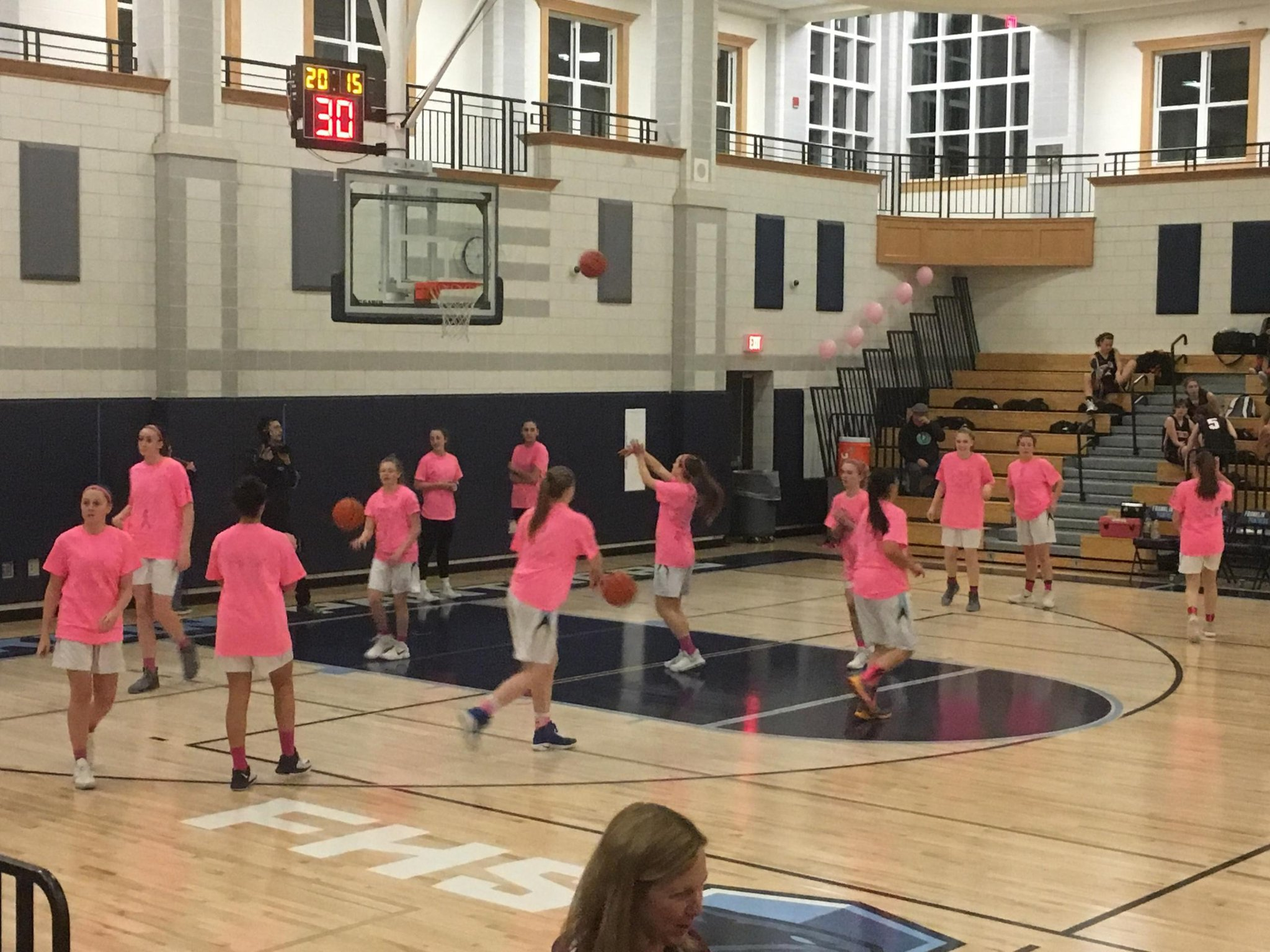 Lost to a well coached Stoughton team 36-47 on our Coaches vs Cancer Night.  Good lesson to be learned. The focus is on improvement. #Banja