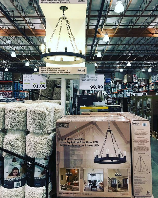 Costco deals on twitter lovely 8 light led chandelier in a 404 pm 26 jan 2018 mozeypictures Images