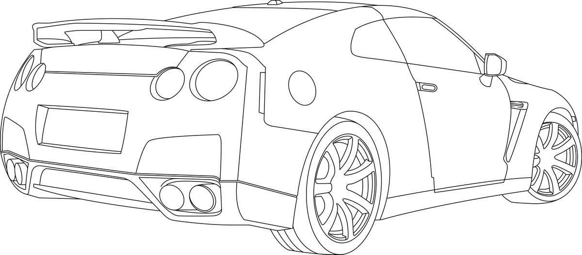 "nissan gtr nismo coloring pages | ECDESIGNS on Twitter: ""Nissan R35 #nissan #gtr35 #car # ..."