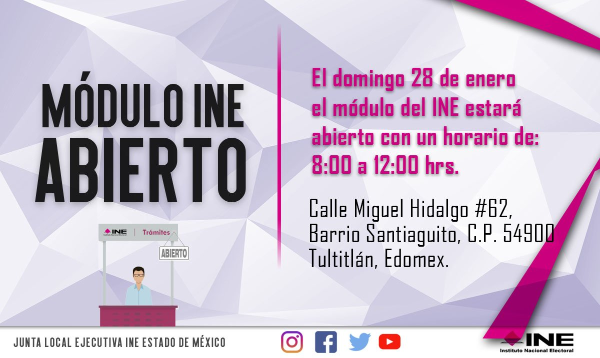 Ine Estado De México No Twitter Atento Aviso El Domingo