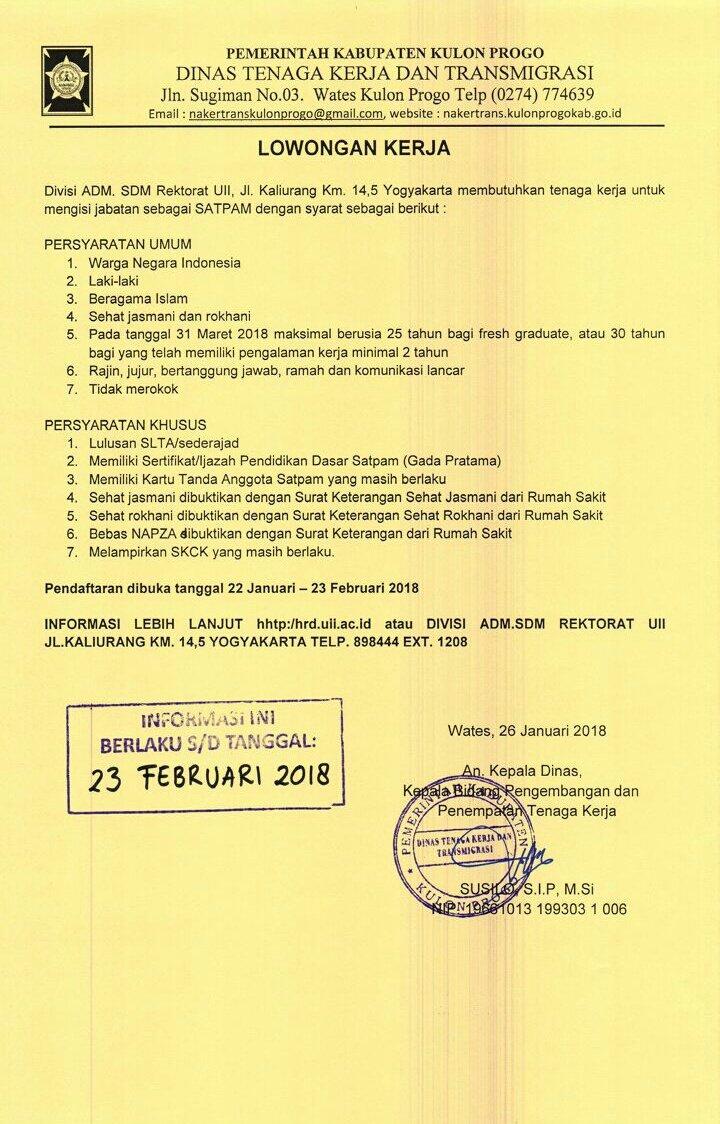 Hay Kulon Progo Twitterissa Lowongan Kerja Monggo Lik Ditelateni Siapa Tau Masuk 1