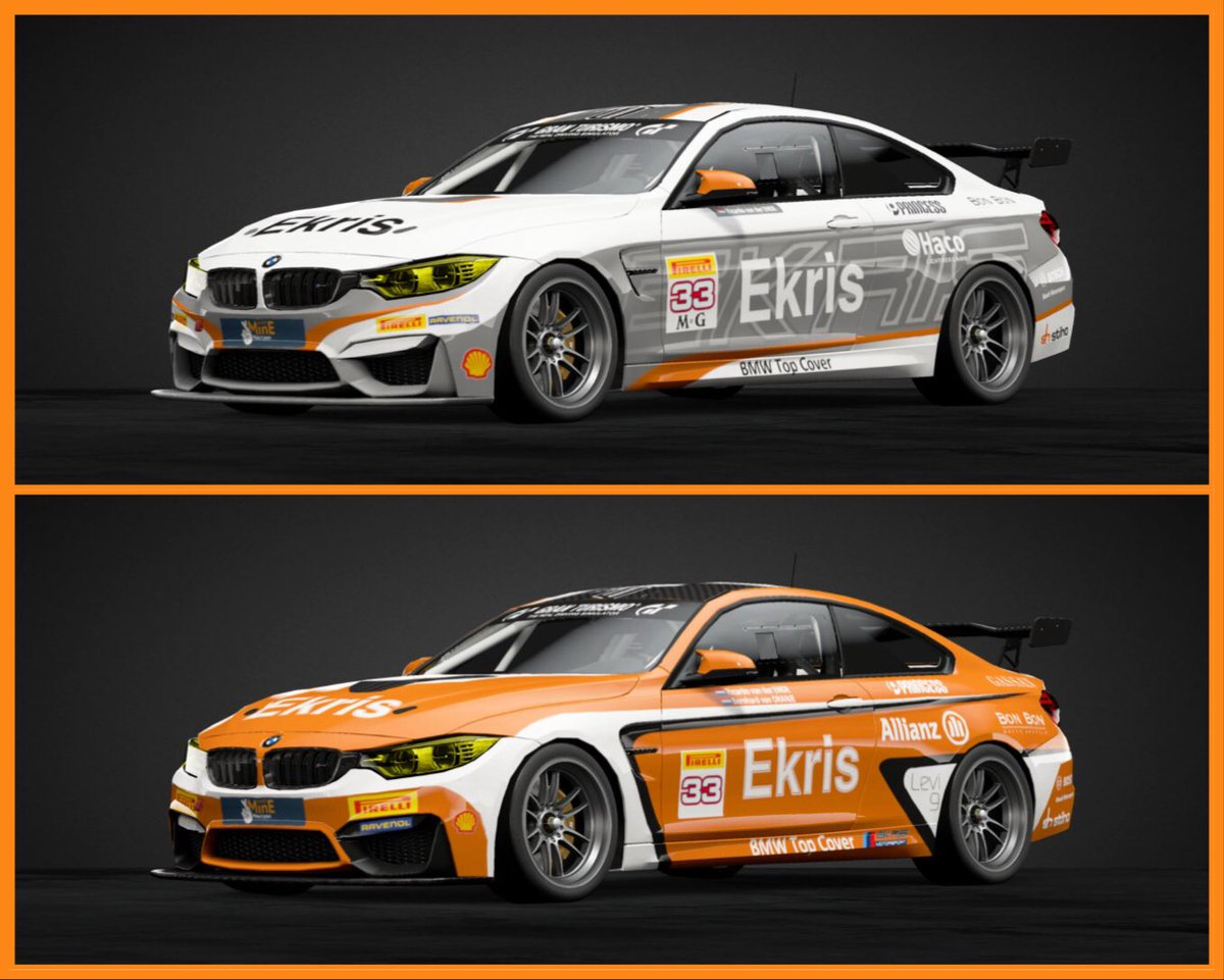 My latest creation in #GTSport The #Ekrismotorsport #bmw #bmwm4 #Gt4 Livery #ekris #racecar