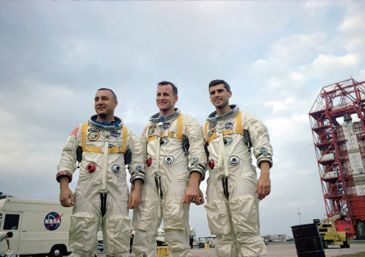 Remembering the crew of Apollo 1. On January 27, 1967, astronauts Virgil I. 'Gus' Grissom, Edward H. White II, and Roger B. Chaffee perished in a fire during a pre-launch test for what was to be the first crewed Apollo mission.
