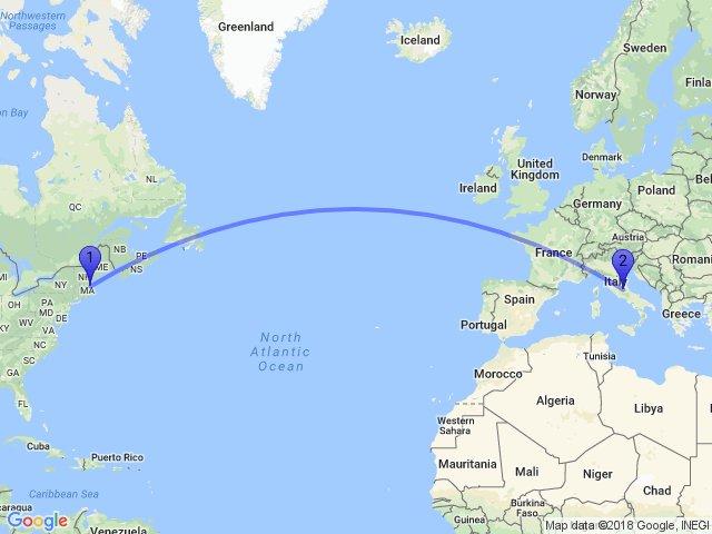 Random Distance on Twitter The distance between Newburyport MA