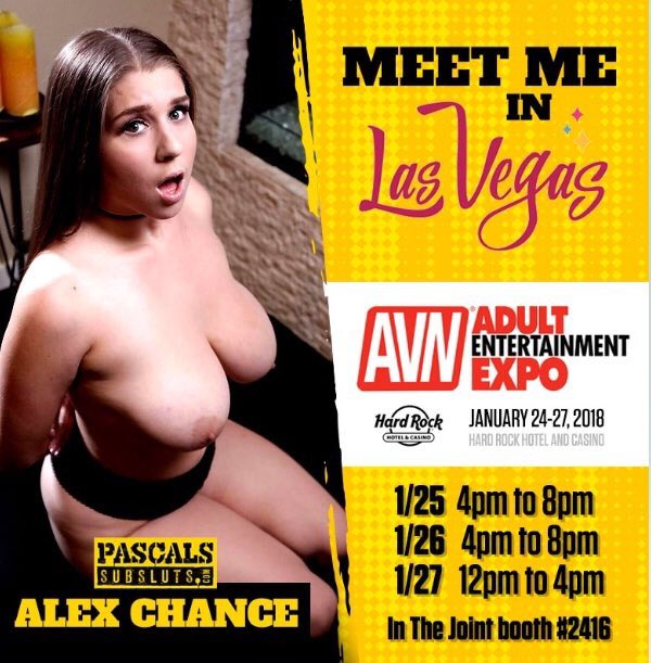 Come see me today @PascalWhiteXXX's booth in the Joint @AEexpo. Towards the back by girlsway. https://t