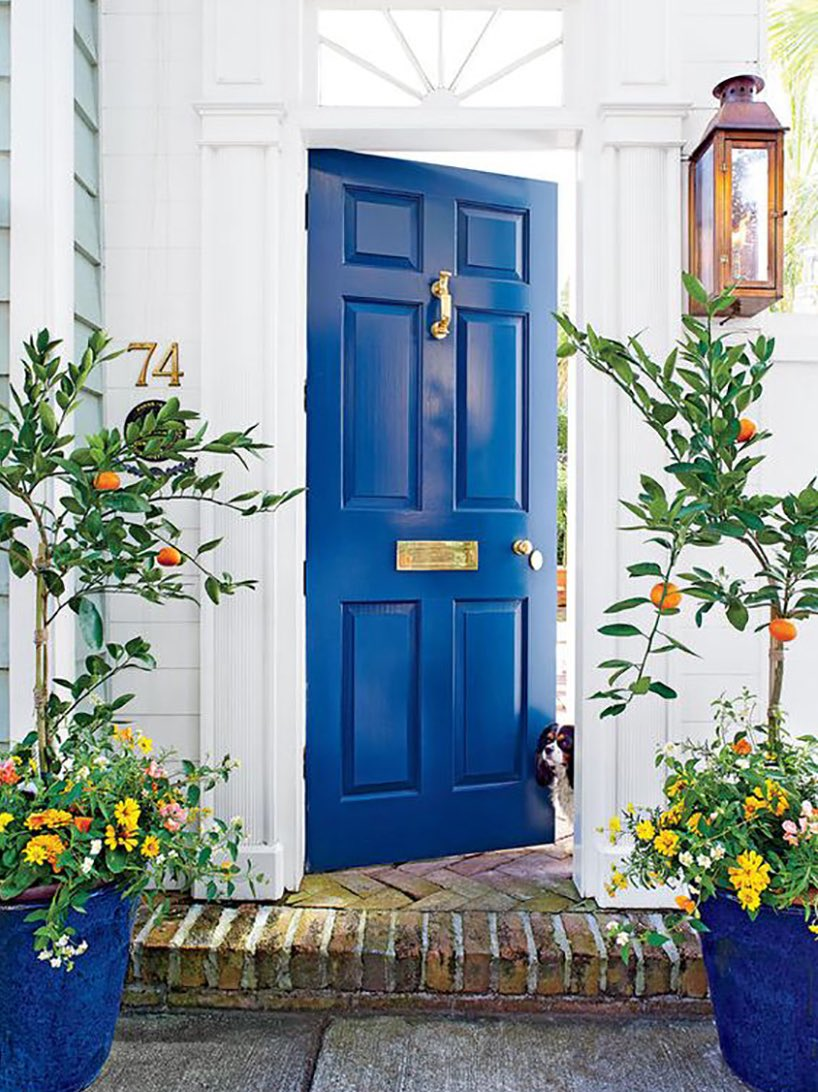 Feng Shui Style On Twitter North Facing Front Door Paint It Blue