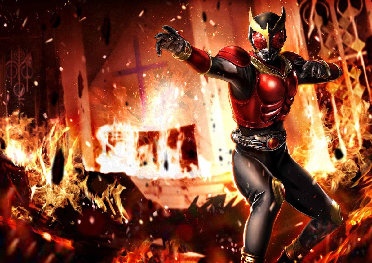炎の中の仮面ライダークウガの壁紙