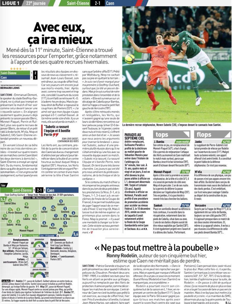 [23e journée de L1] AS Saint Etienne 2-1 SM Caen - Page 3 DUlitHsW4AAvA2V