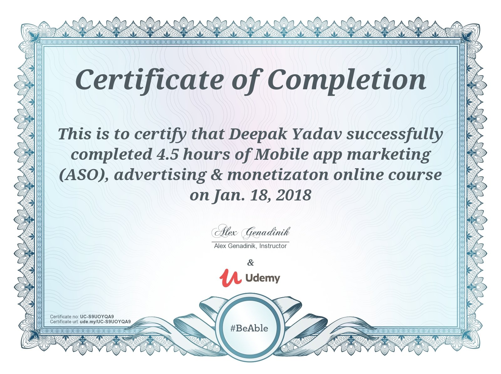 Deepak Yadav On Twitter I Have Completed My First Course Mobile