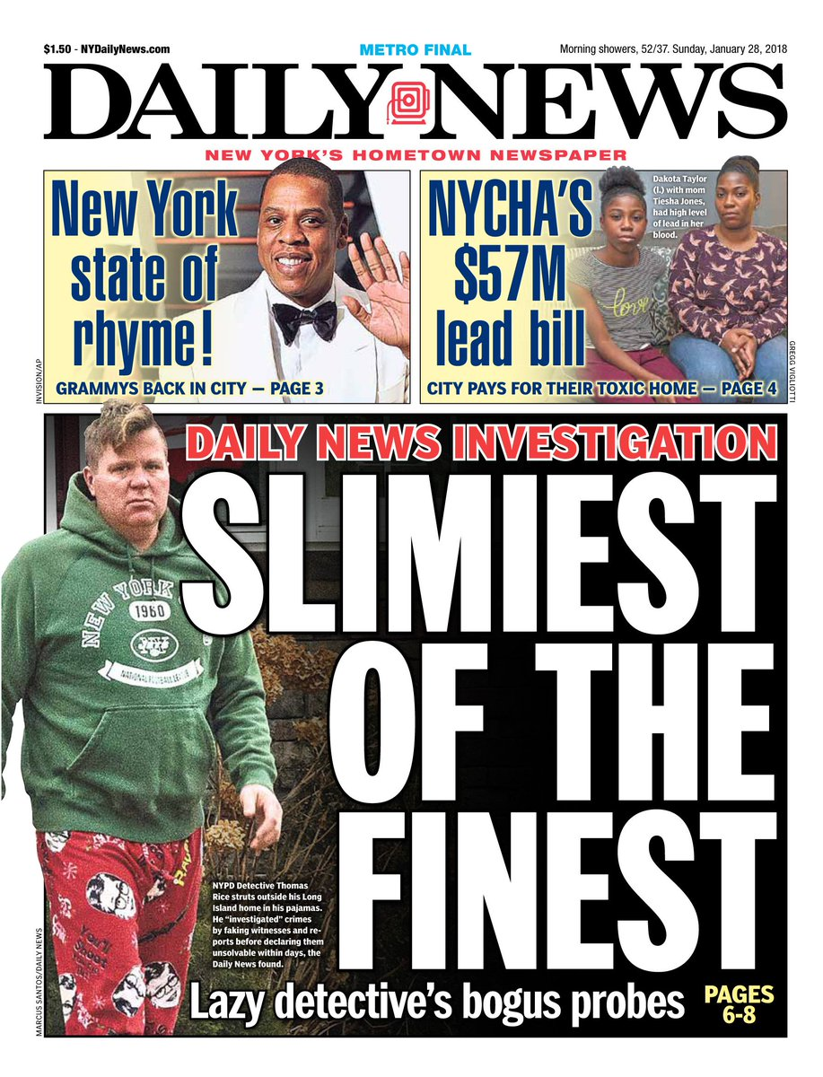 Newspaper Investigations Of Toxic >> New York Daily News On Twitter An Early Look At Tomorrow S Front