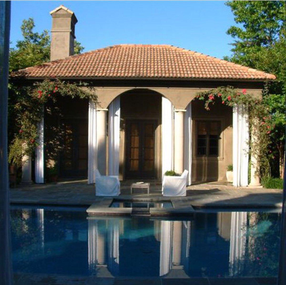 This Mediterranean stucco house by Spitzmiller & Norris.  A Pool( photo)  House mirrors the loggia and overlooks the garden beyond.   #spitzmillerandnorris #medierraneanvilla #poolweather #atlantaarchitects #residentialdesigners    https://www. spitzmillerandnorris.com/mediterranean- villa  … <br>http://pic.twitter.com/ILiQEbz6i9