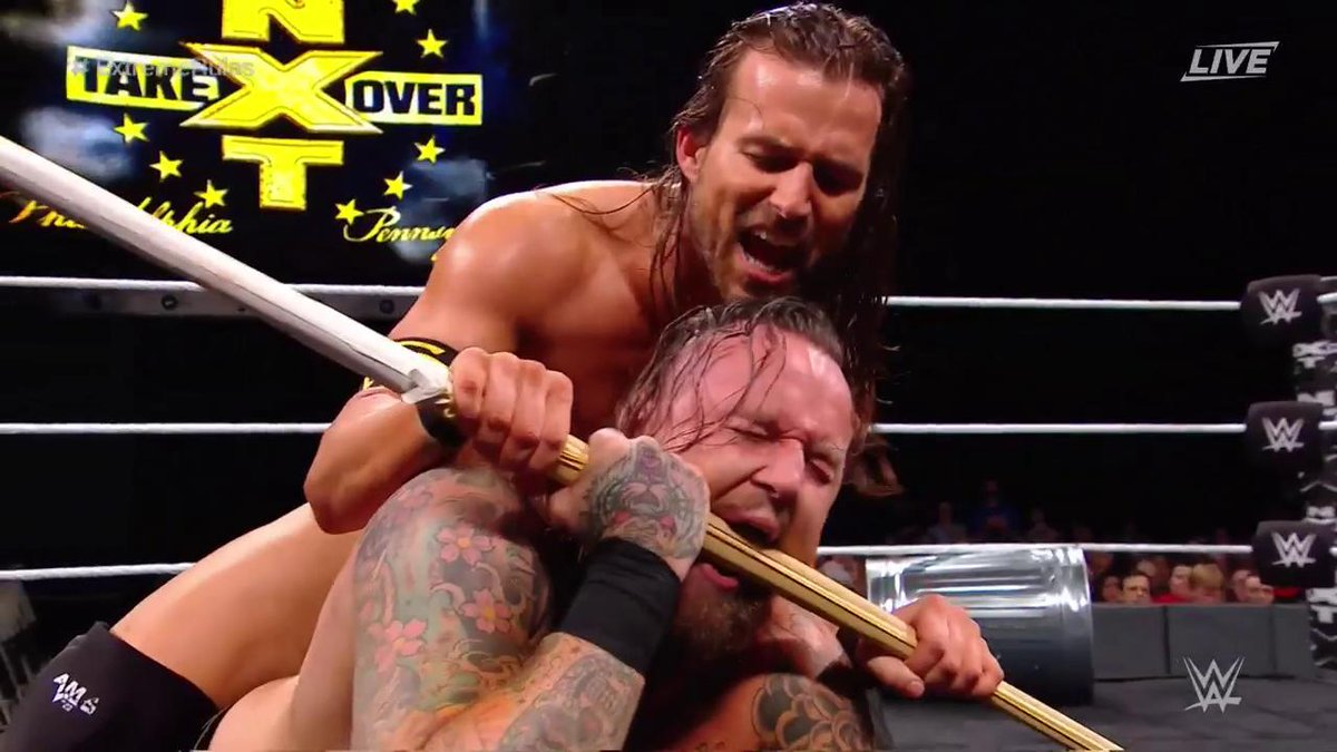 .@AdamColePro is out to HUMILIATE @WWEAleister! #ExtremeRules #NXTTakeOver