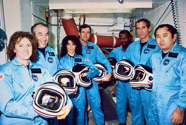 Challenger Space Shuttle crew perished after launch from Cape Canaveral this morning 1986:          #NASA